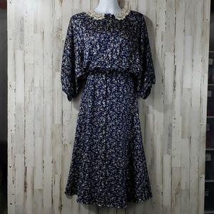 Jack Mulqueen New York Womens Dress Blue Vintage